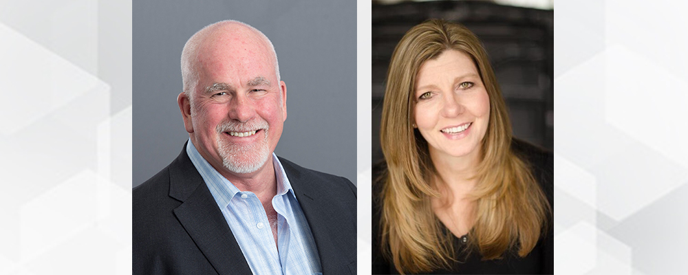 Headshots of Brett S. Kilpatrick, Chief Revenue Officer and Denise Senter, Chief Marketing Officer