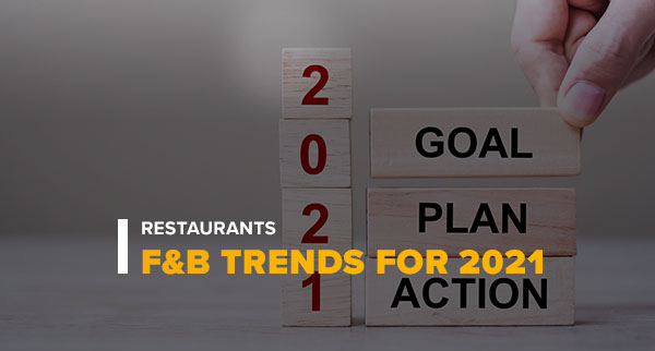 2021 Goal Plan Action With Text Restaurants F&B Trends for 2021