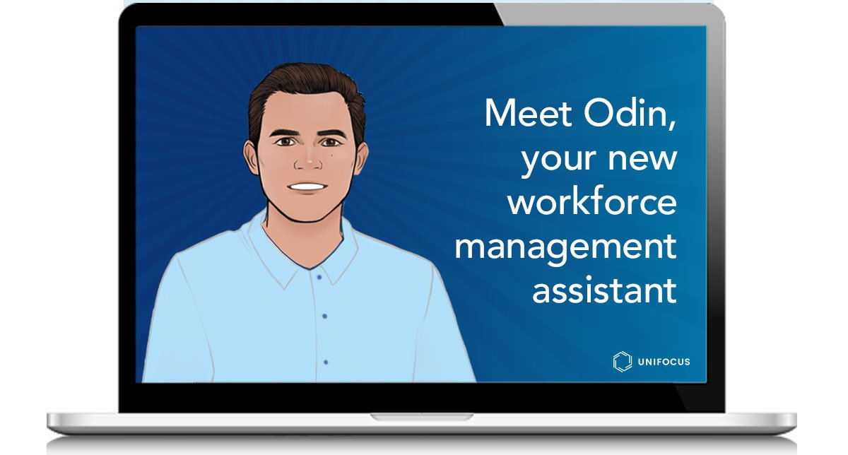 Computer Screen With Text Meet Odin, your new workforce management assistant