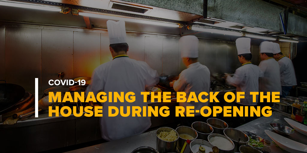 Restaurant Cooking Line With Text Managing the Back of the House in Post-COVID-19 Re-Opening
