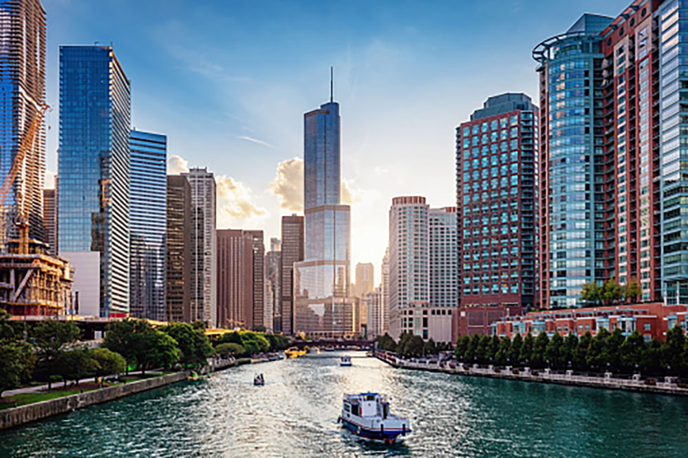 City of Chicago on the Riverfront
